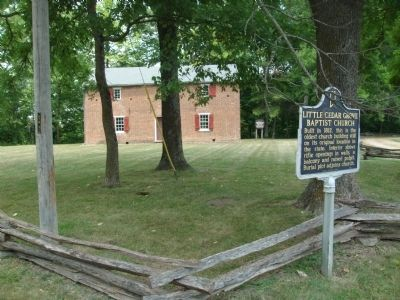 Little Cedar Grove Baptist Church Marker image. Click for full size.