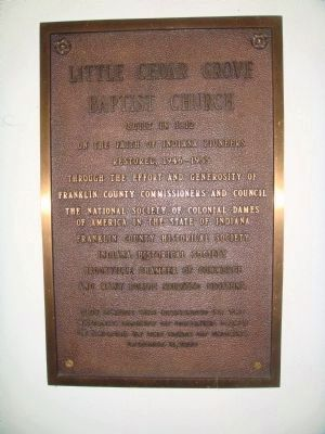 Related Little Cedar Grove Baptist Church Marker image. Click for full size.