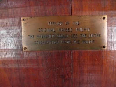 Related Little Cedar Grove Baptist Church Plaque image. Click for full size.