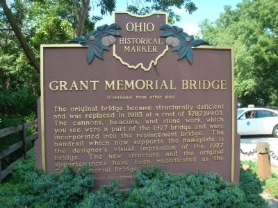 Grant Memorial Bridge Marker Photo, Click for full size