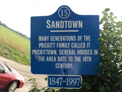 Sandtown Marker image. Click for full size.