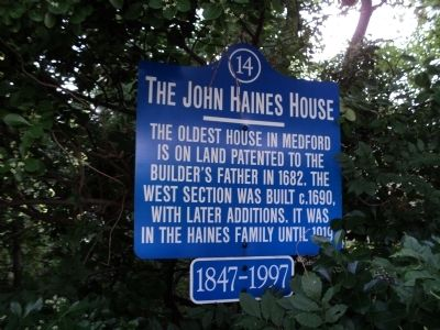 The John Haines House Marker image. Click for full size.