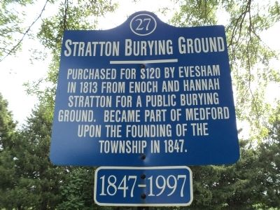 Stratton Burying Ground Marker image. Click for full size.