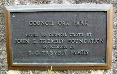 Council Oak Park Marker image. Click for full size.
