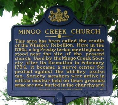 Mingo Creek Church Marker image. Click for full size.