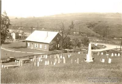 Mingo Presbyterian Church and graveyard image. Click for full size.