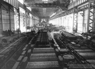 Inside Duquesne Steel Works image. Click for full size.