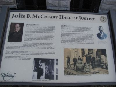 James B. McCreary Hall of Justice Marker image. Click for full size.