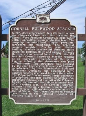 Cornell Pulpwood Stacker Marker image. Click for full size.