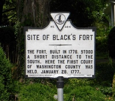 Site of Black's Fort Marker image. Click for full size.