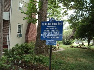 The Benjamin Wilkins House Marker image. Click for full size.