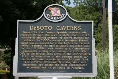 DeSoto Caverns Marker Photo, Click for full size