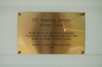 135 Amelia Street Marker image. Click for full size.