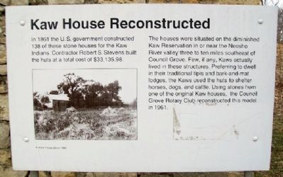 Kaw House Reconstructed Marker image. Click for full size.