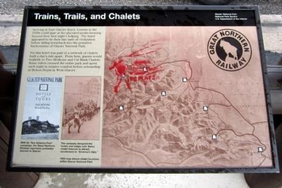 Trains, Trails, and Chalets Marker image. Click for full size.