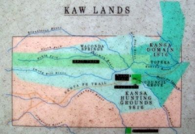 Map of Kaw Lands on Kaw Mission Marker image. Click for full size.