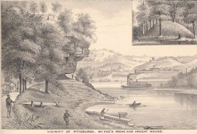 Vicinity of Pittsburgh: McKees Rocks and Ancient Mound image. Click for full size.