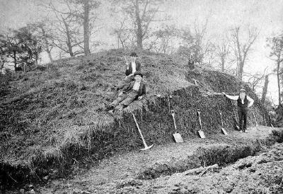 Initial excavation of McKees Rocks Mound image. Click for full size.