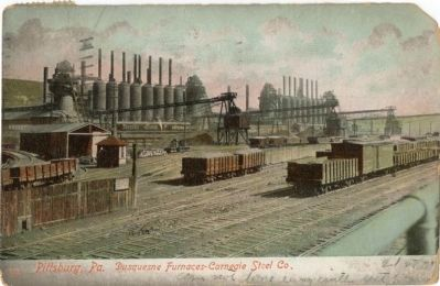 Duquesne Steel Works image. Click for full size.