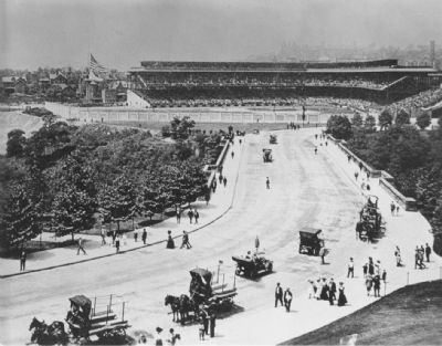 Forbes Field soon after its opening Photo, Click for full size