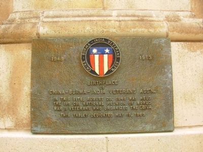 Birthplace of China-Burma-India Veterans Ass'n. Marker image. Click for full size.