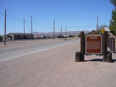 Rincón Marker and train station image. Click for full size.