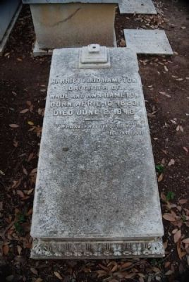 Harriet Flud Hampton Tombstone image. Click for full size.