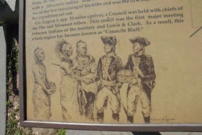 Drawing of Lewis & Clark with Indians image. Click for full size.