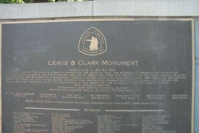 Lewis & Clark Monument 4 image. Click for full size.