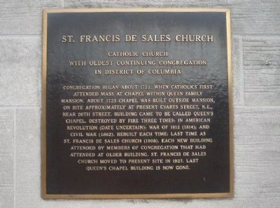 St. Francis De Sales Church Marker Photo, Click for full size