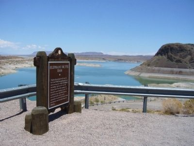 Elephant Butte Dam Marker image. Click for full size.