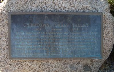 Chinatown, Grass Valley Marker image. Click for full size.