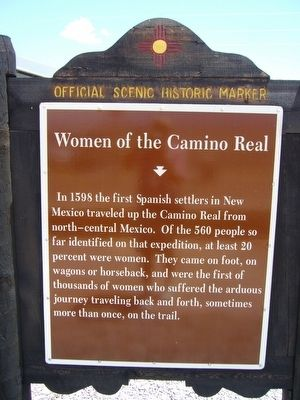 Front of Women of the Camino Real Marker image. Click for full size.