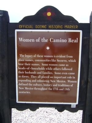 <i>Rear of </i> Women of the Camino Real Marker image. Click for full size.