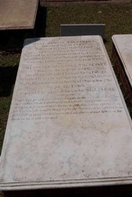 Jesse Howell Trezevant/Willoughby Farqunar Trezevant Tombstone image. Click for full size.
