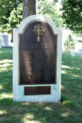 Chaplains Hill marker, third from the left image. Click for full size.