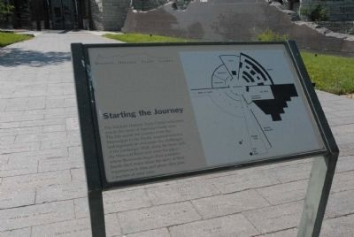Western Historic Trails Center; Starting the Journey Marker image. Click for full size.
