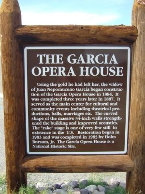 The Garcia Opera House Marker image. Click for full size.