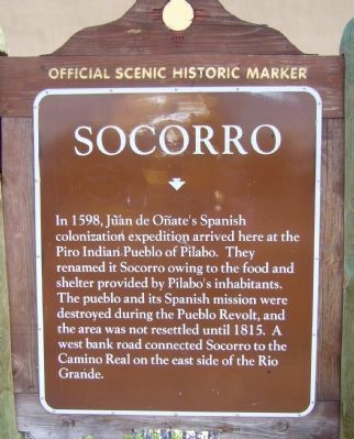 Socorro Marker image. Click for full size.