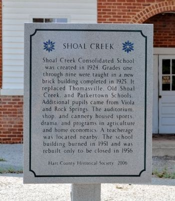 Shoal Creek Marker image. Click for full size.