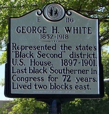 George H. White Marker image. Click for full size.