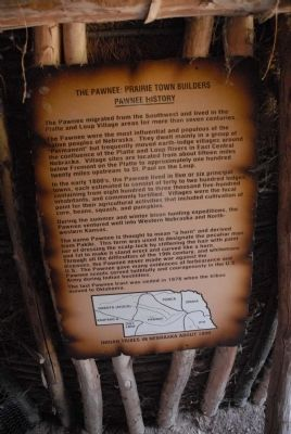The Pawnee: Prairie Town Builders, Pawnee History Marker image. Click for full size.