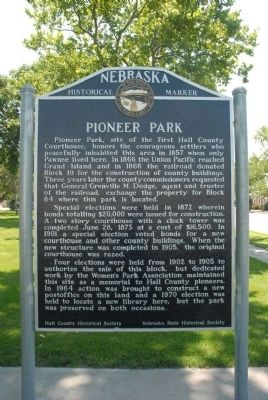 Pioneer Park Marker image. Click for full size.