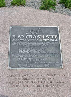 B-52 Crash Site Marker Photo, Click for full size