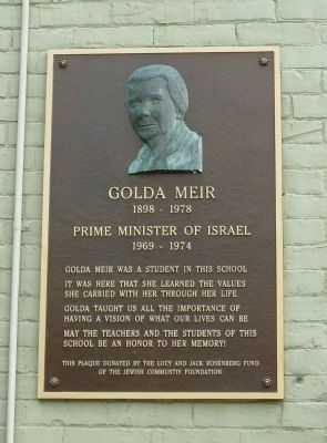 Golda Meir Marker Photo, Click for full size