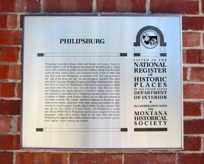 Philipsburg Marker image. Click for full size.