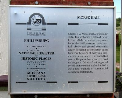 Morse Hall Marker image. Click for full size.