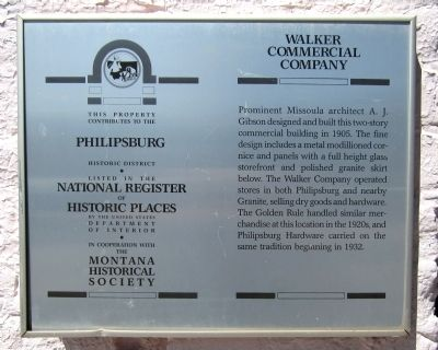 Walker Commercial Building Marker image. Click for full size.