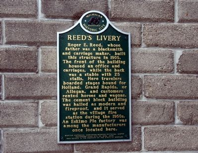 Reed's Livery Marker image. Click for full size.