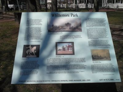 Whittemore Park Marker image. Click for full size.